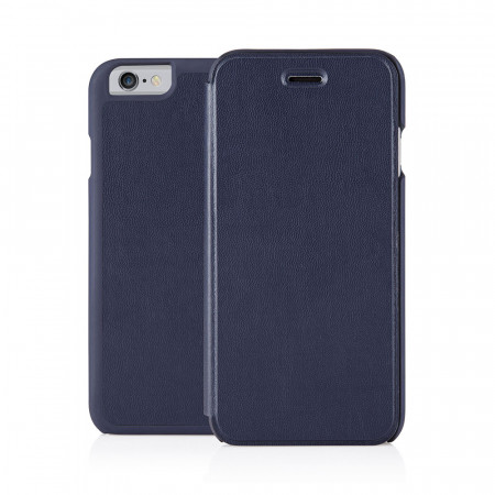 Pipetto iPhone 6 / iPhone 6S Folio Case Navy Lambskin Luxe