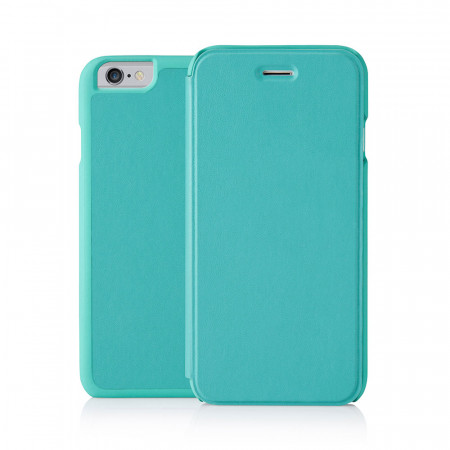 PIpetto iPhone 6 / iPhone 6S Folio Case Turquoise Lambskin Luxe
