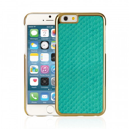 iPhone 6 / iPhone 6S Exotic Snap Case - Turquoise Snakeskin