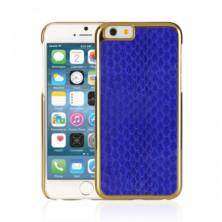 Blue iPhone 6 / iPhone 6S Exotic Snap Case - Navy Snakeskin