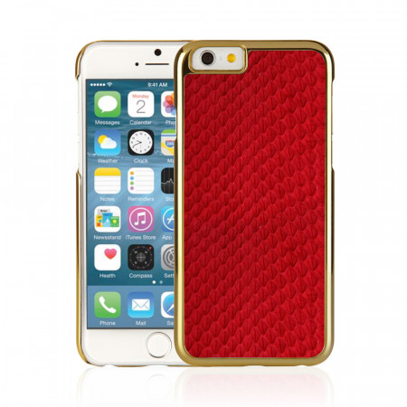 Red iPhone 6 / iPhone 6S Exotic Snap Case - Red Snakeskin