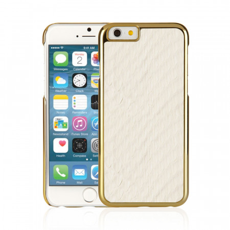 WhiteiPhone 6 / iPhone 6S Exotic Snap Case - Cream Snakeskin