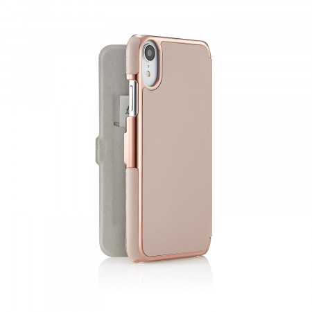 iPhone xr slim dusty pink - back open