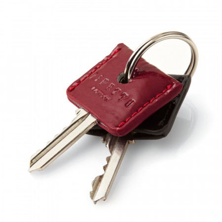 Pipetto Patent Red & Black Leather Keycovers