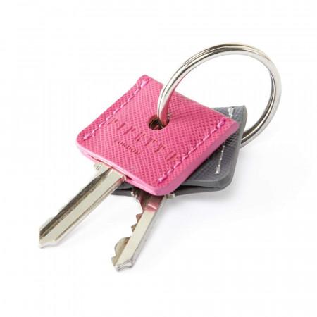 Key Cover Set - Pink Grey Saffiano - key ring