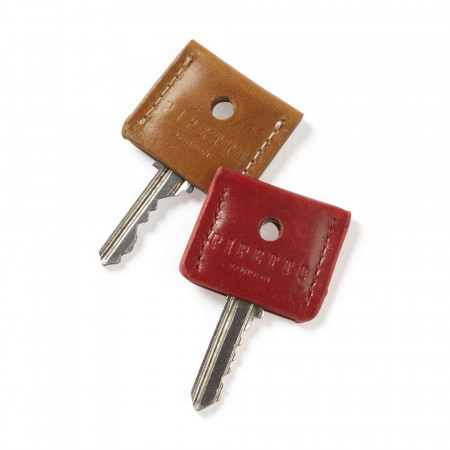 Key Cover Set - Tan Red Leather