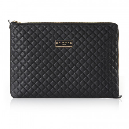 MacBook Retina Sleeve Black Lambskin - sold as seen