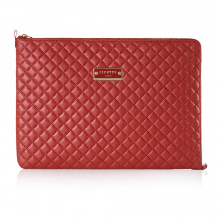 "15.4"" MacBook Pro Leather Sleeve - Red (Sold As Seen)"