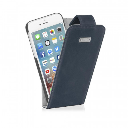 Pipetto flip leather case back open navy