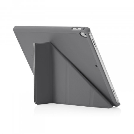 Pipetto iPad Pro 12.9 2nd Gen Origami Case Grey - back exterior
