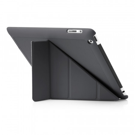 Pipetto iPad 2,3,4 Origami case - Grey exterior