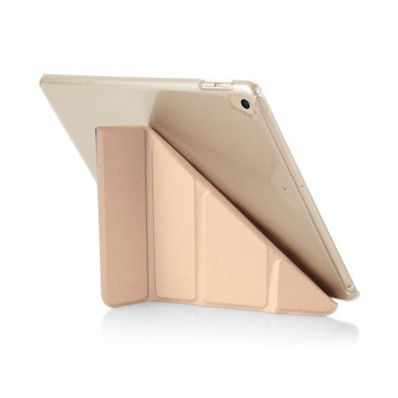Pipetto 9.7-inch 2017 iPad Origami Metallic Champagne and Clear Case - back exterior