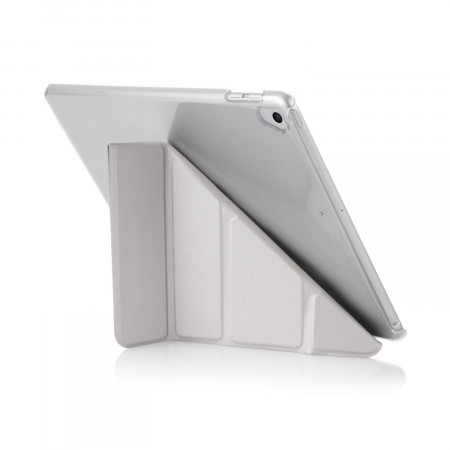 Pipetto 9.7-inch 2017 iPad Origami Clear back case & Silver cover -  exterior back
