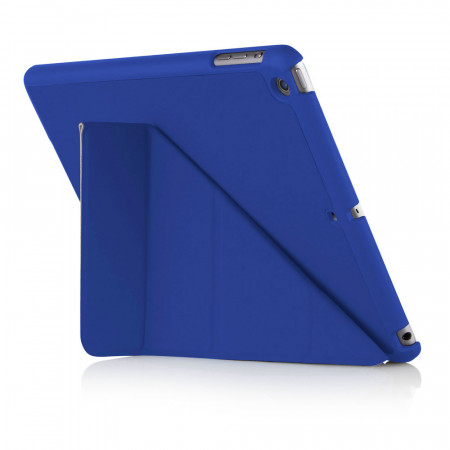 Pipetto iPad Air 1 Origami case - Royal Blue - back exterior