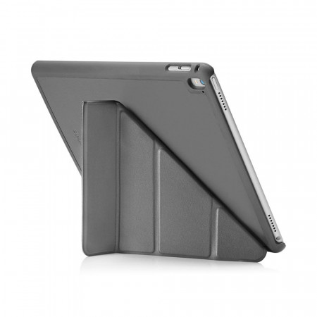 Pipetto iPad pro 9.7 Case Origami Luxe Grey - back exterior
