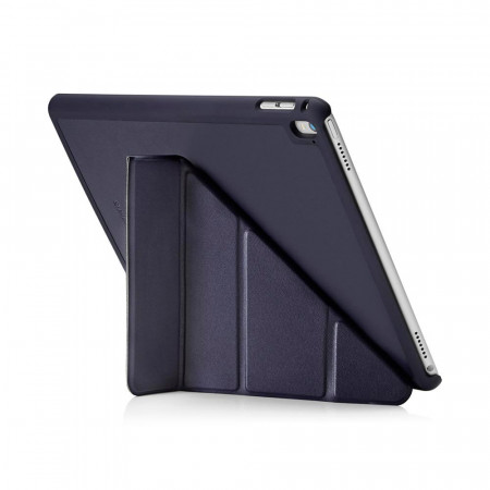 Pipetto iPad Pro 9.7 Case Navy Origami Luxe - back exterior