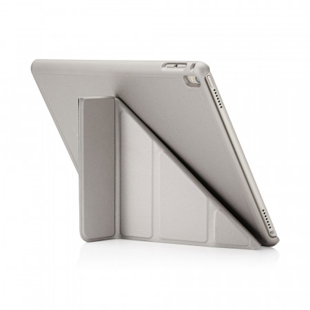 Pipetto iPad Pro 9.7 Origami Case Silver - back exterior