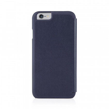 Pipetto iPhone 6 / iPhone 6S Folio Case Navy Lambskin Luxe - back