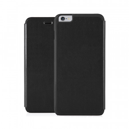 Pipetto iPhone 6 Plus / iPhone 6S Plus Folio Case Black Lambskin Luxe