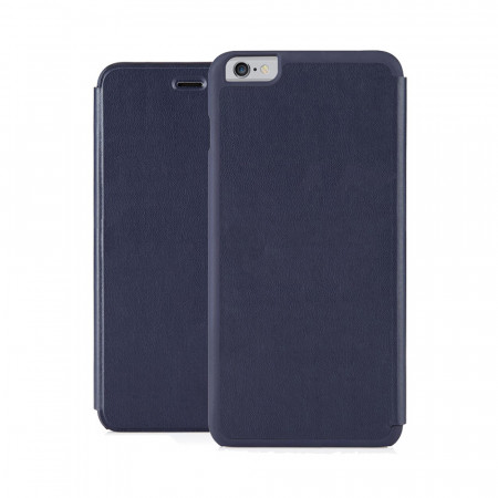 Pipetto iPhone 6 Plus / iPhone 6S Plus Folio Case Navy Lambskin Luxe