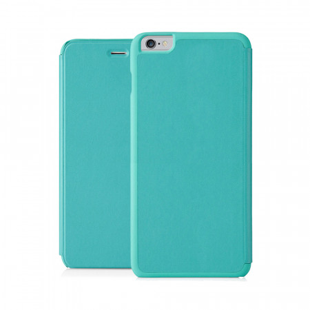 Pipetto iPhone 6 Plus / iPhone 6S Plus Folio Case Turquoise Lambskin Luxe