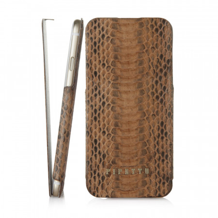 Pipetto iPhone 6 / iPhone 6S Skinny Exotic - Brown Snakeskin