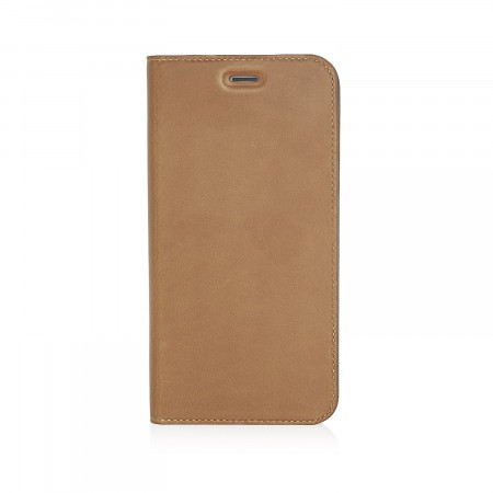 Pipetto iPhone 7 Plus Case Medium Wallet front tan classic