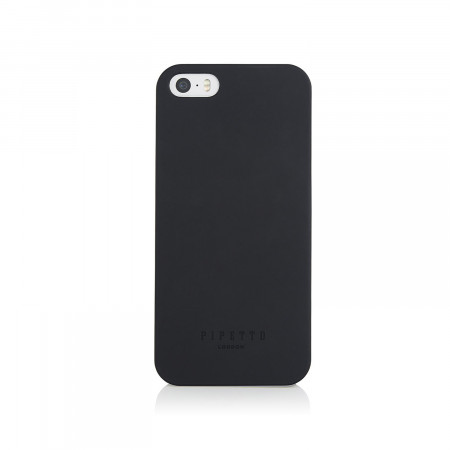 Pipetto iPhone SE 5/5S case shell black - front front