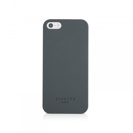 Pipetto iPhone SE 5/5S case shell black - front