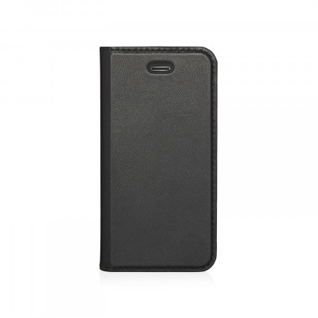 Pipetto iPhone 5 / 5S / SE  Wallet Case [MED] Black - Front
