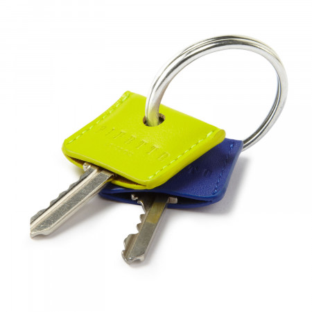 Key Cover Set - Yellow & Blue Leather
