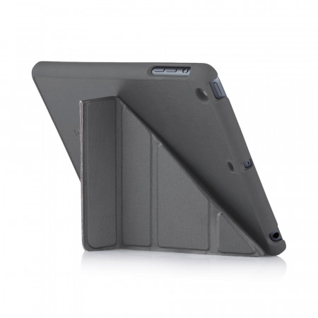 iPad Mini Case Origami Grey Luxury Vegan Lambskin | Stand