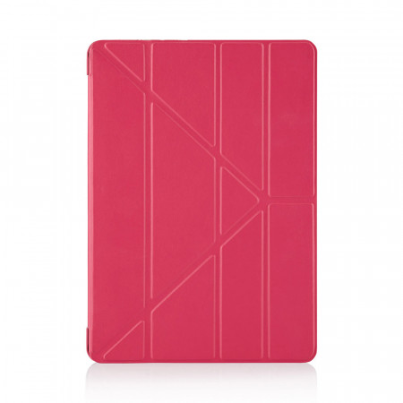 iPad Mini Case Origami Pink Luxury Vegan Lambskin | Pipetto - Front