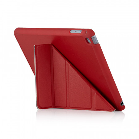 iPad Mini 4 Cases Origami Luxe Red - Back Exterior