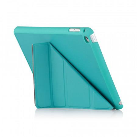 iPad Mini 4 Origami Luxe Case Turquoise - Back exterior