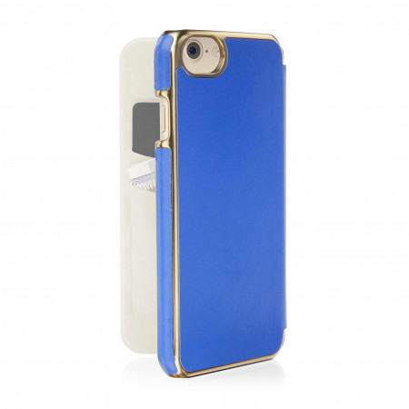pipetto slim case leather wallet angle 1 royal blue