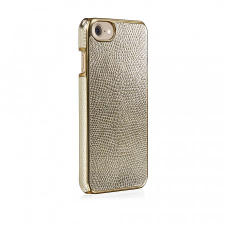 Pipetto iPhone 7 snap case gold lizard - back angle 2