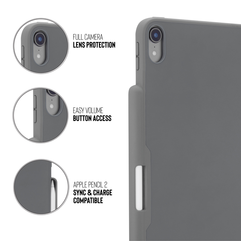 best service ce7e3 3dc53 iPad Pro 12.9 (3rd Gen) Origami Pencil Case 5-in-1 Ruggedised Case - Grey
