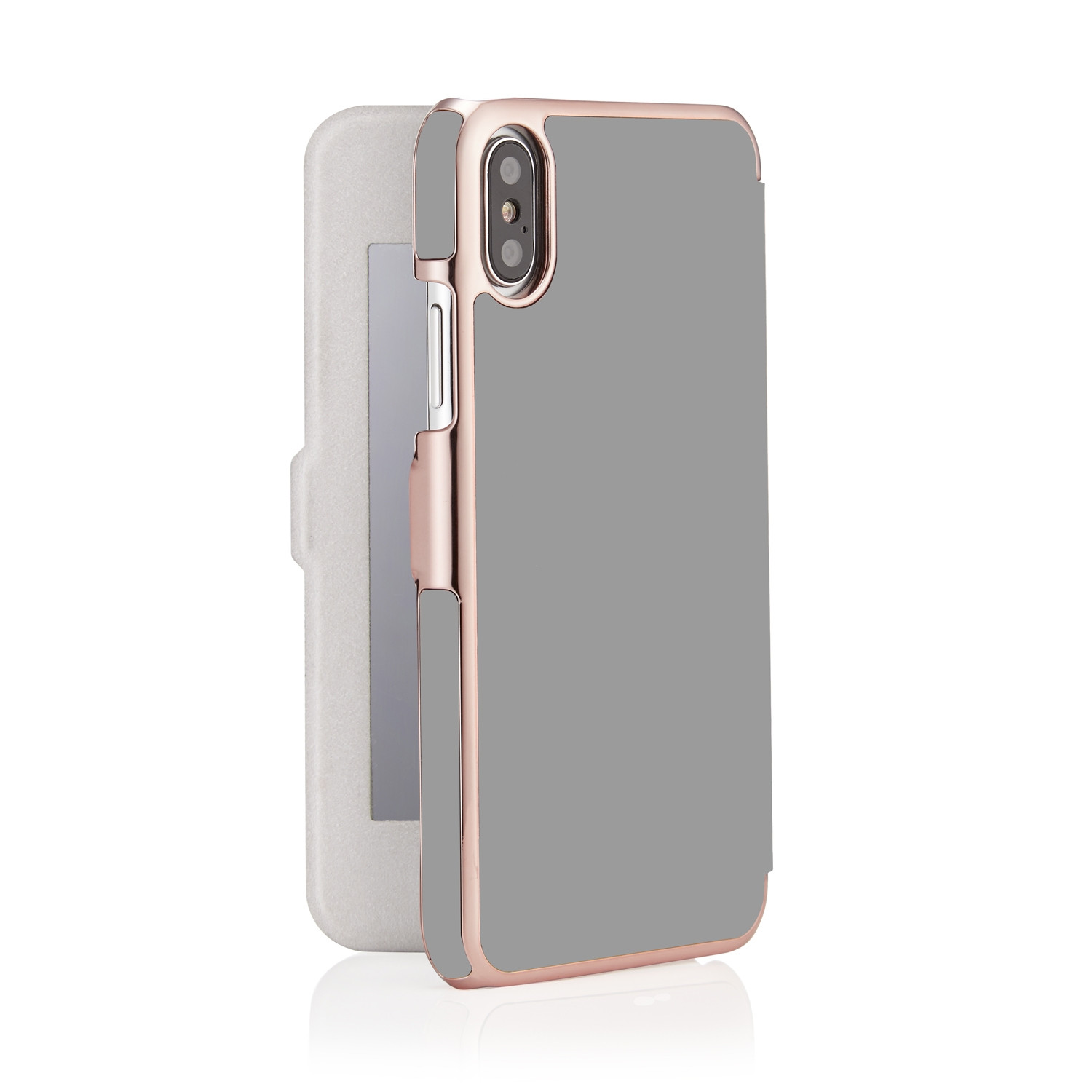 100% authentic c8372 f27d6 iPhone X/XS Slim Mirror Case - Grey & Rose Gold (Online Exclusive)