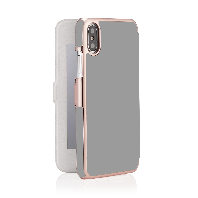 100% authentic fffdb d2092 iPhone X/XS Slim Mirror Case - Grey & Rose Gold (Online Exclusive)