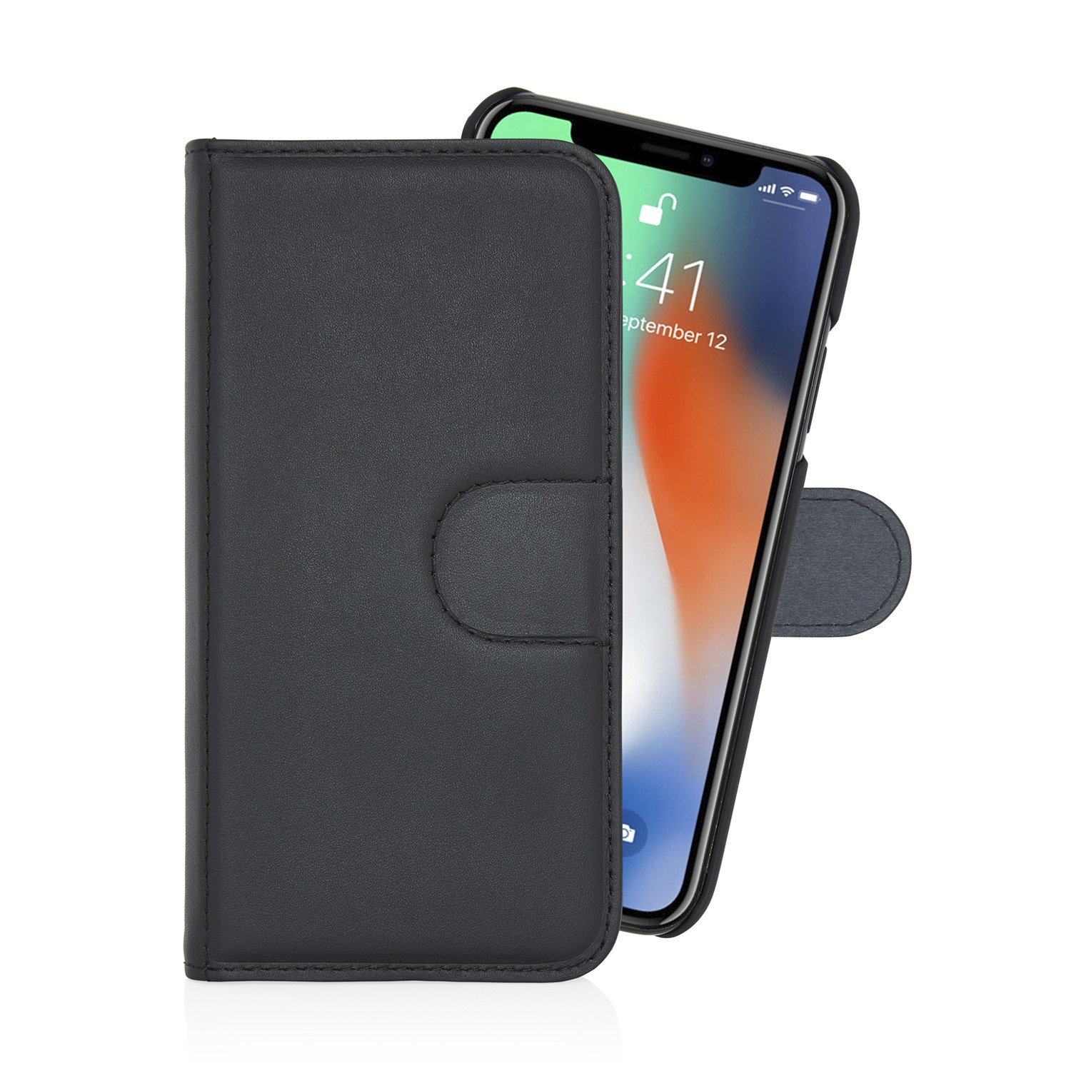 newest 021c2 a2cdf iPhone X/XS Wallet Case [LRG] Magnetic - Black