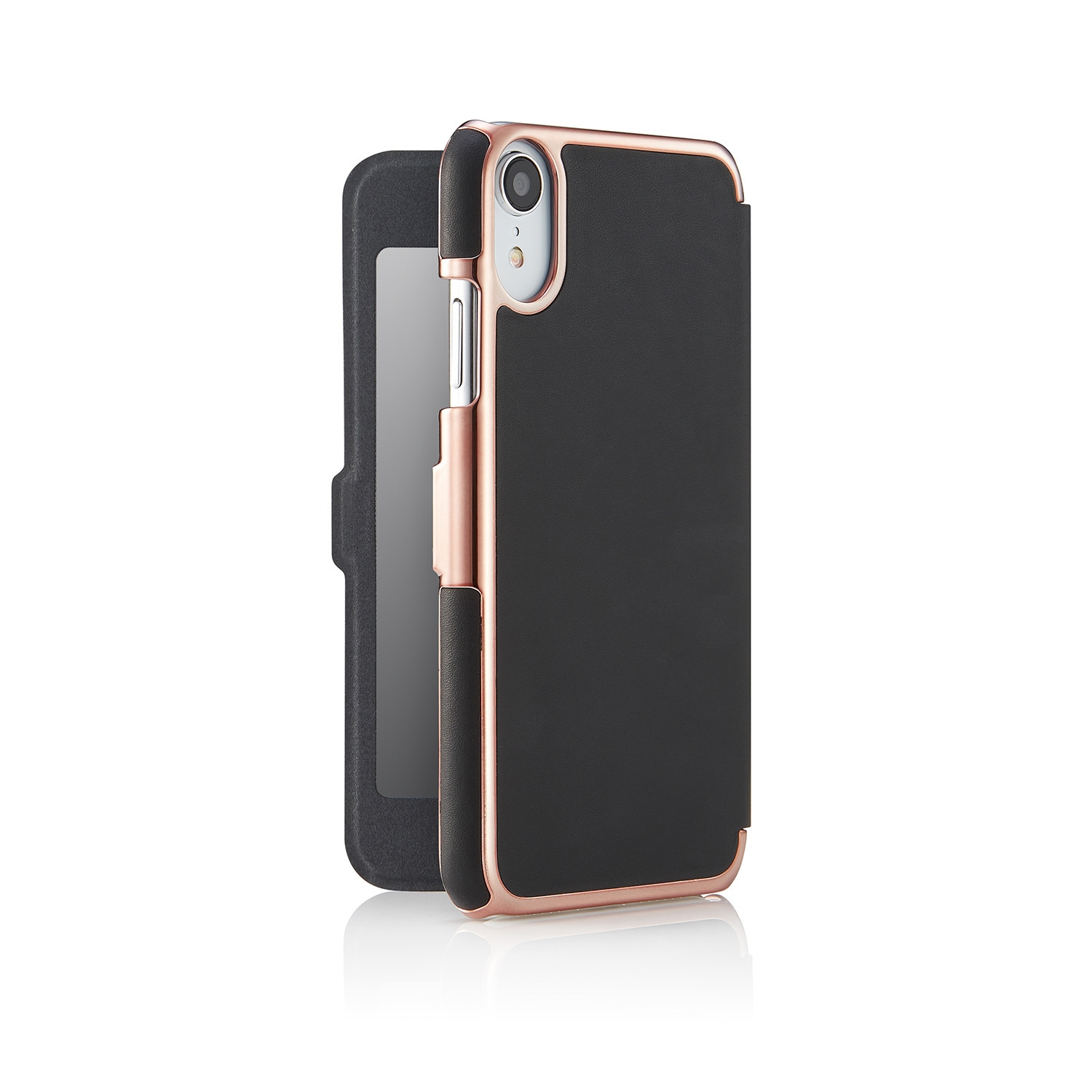 free shipping e308e 7ceee iPhone XR Slim Mirror Case - Black & Rose Gold