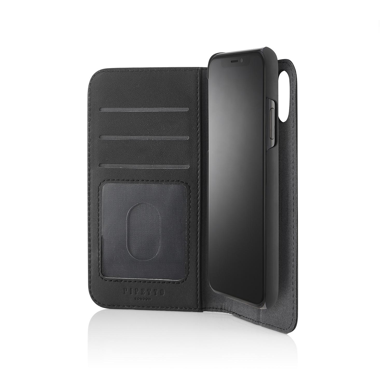buy popular 3234b 04244 iPhone X/XS 2-in-1 Leather Magnetic Folio Case - Black