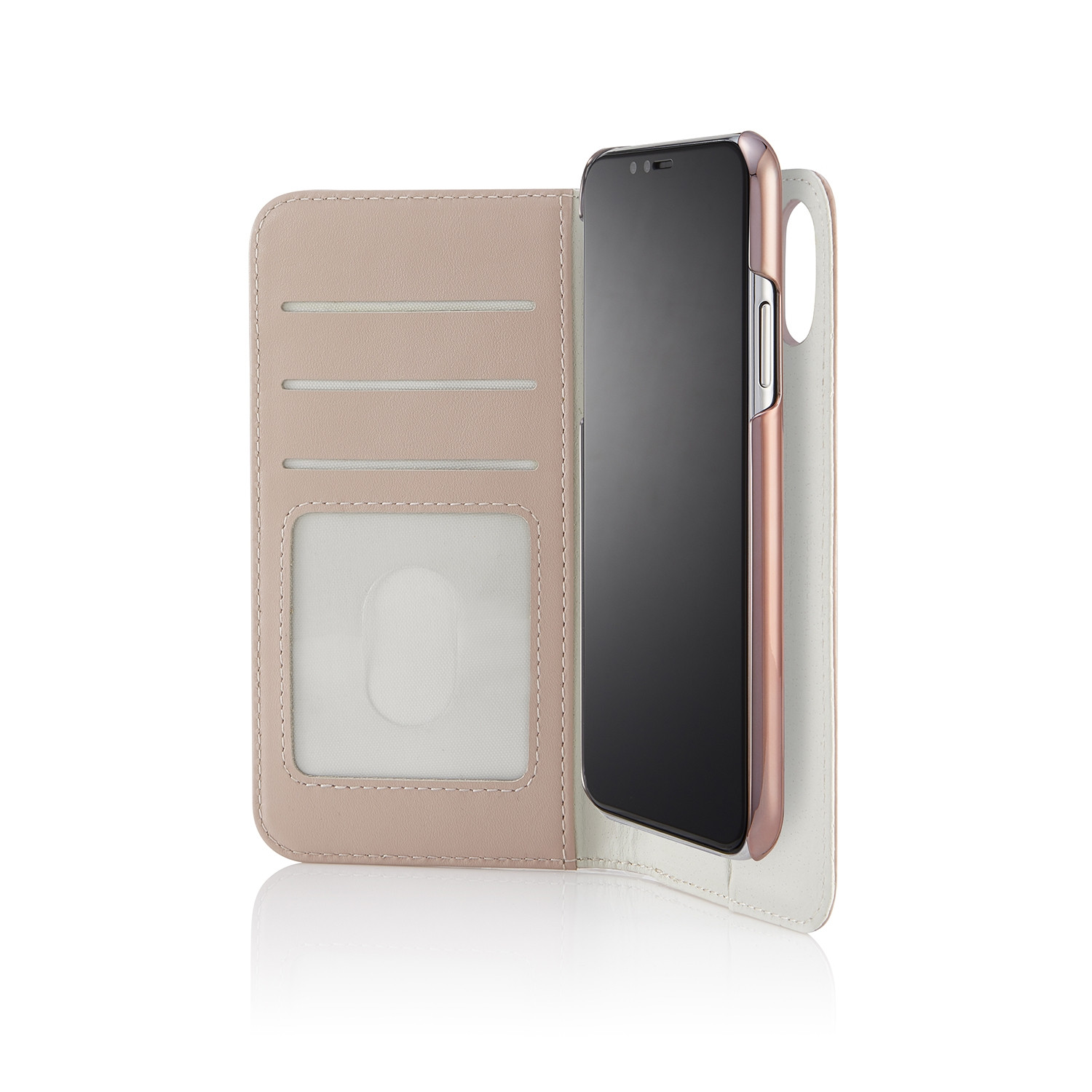 super popular c966a a99c5 iPhone X/XS 2-in-1 Leather Magnetic Folio Case - Dusty Pink
