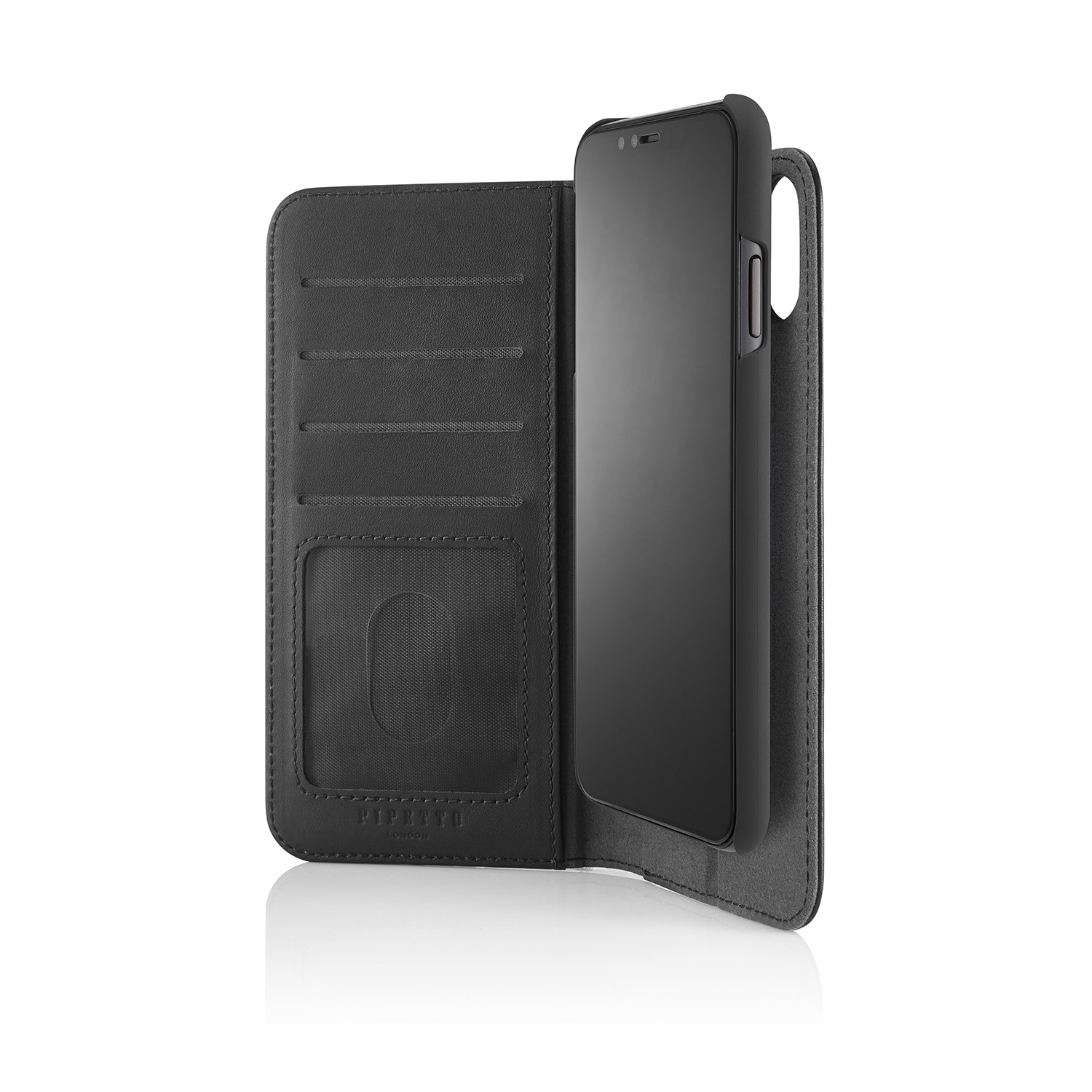 the latest 8f721 35714 iPhone XS Max 2-in-1 Leather Magnetic Folio Case - Black