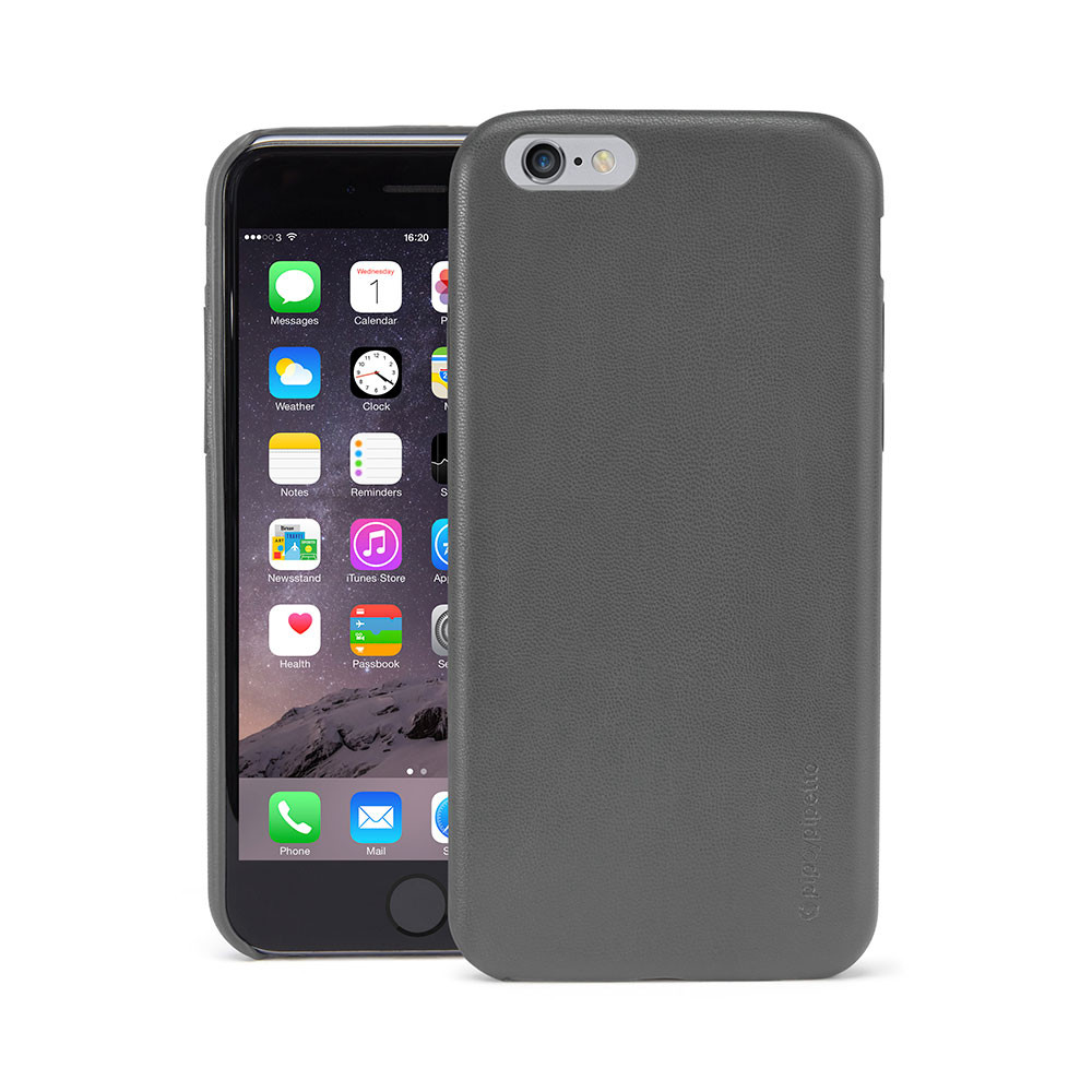 save off 1b03a ae82d iPhone 6 / iPhone 6S Case Snap Grey Lambskin Luxe