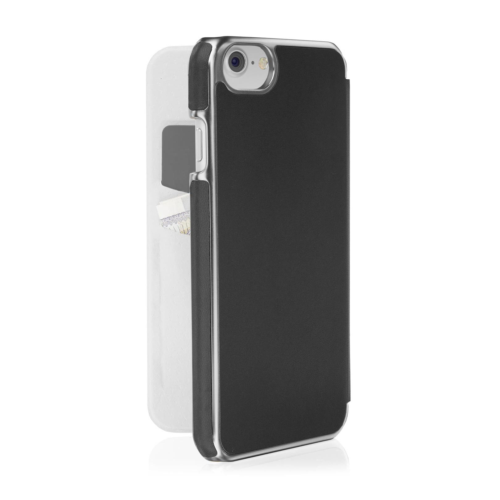 super popular 0d5b5 58bf0 iPhone 8 Slim Wallet Case - Black (Also Fits iPhone 6/6S/7)
