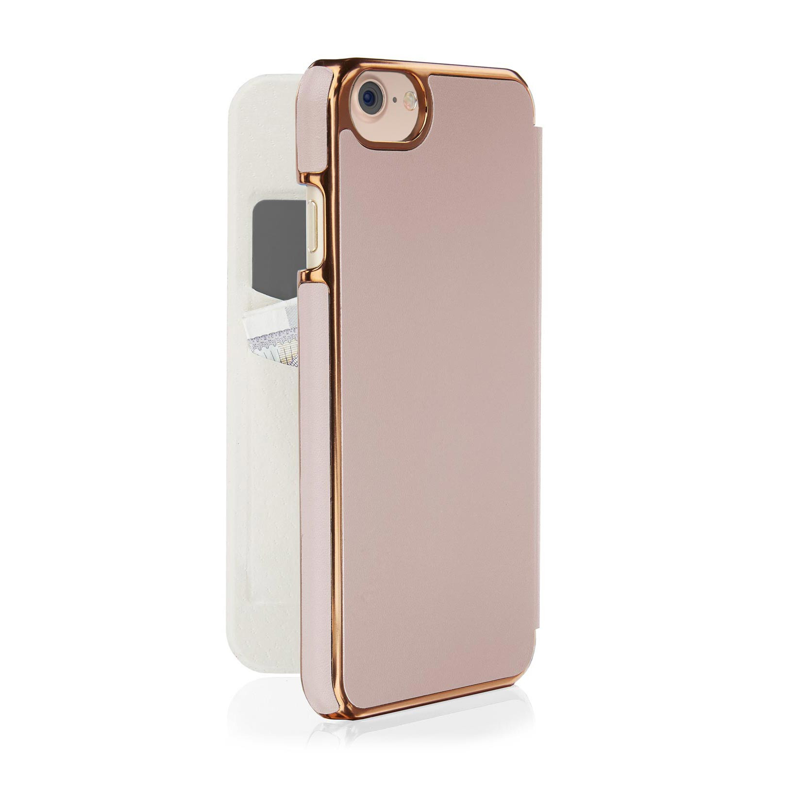 best service 7e4a9 94d73 iPhone 8 Slim Wallet Case - Dusty Pink (Also Fits iPhone 6/6S/7)