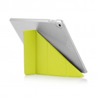 Pipetto 9.7-inch 2017 iPad Origami Luxe Pistachio and Clear Case - back exterior