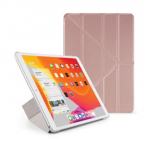 Pipetto iPad 10.2 Inch 2019 Case Rose Gold & Clear - Main Image